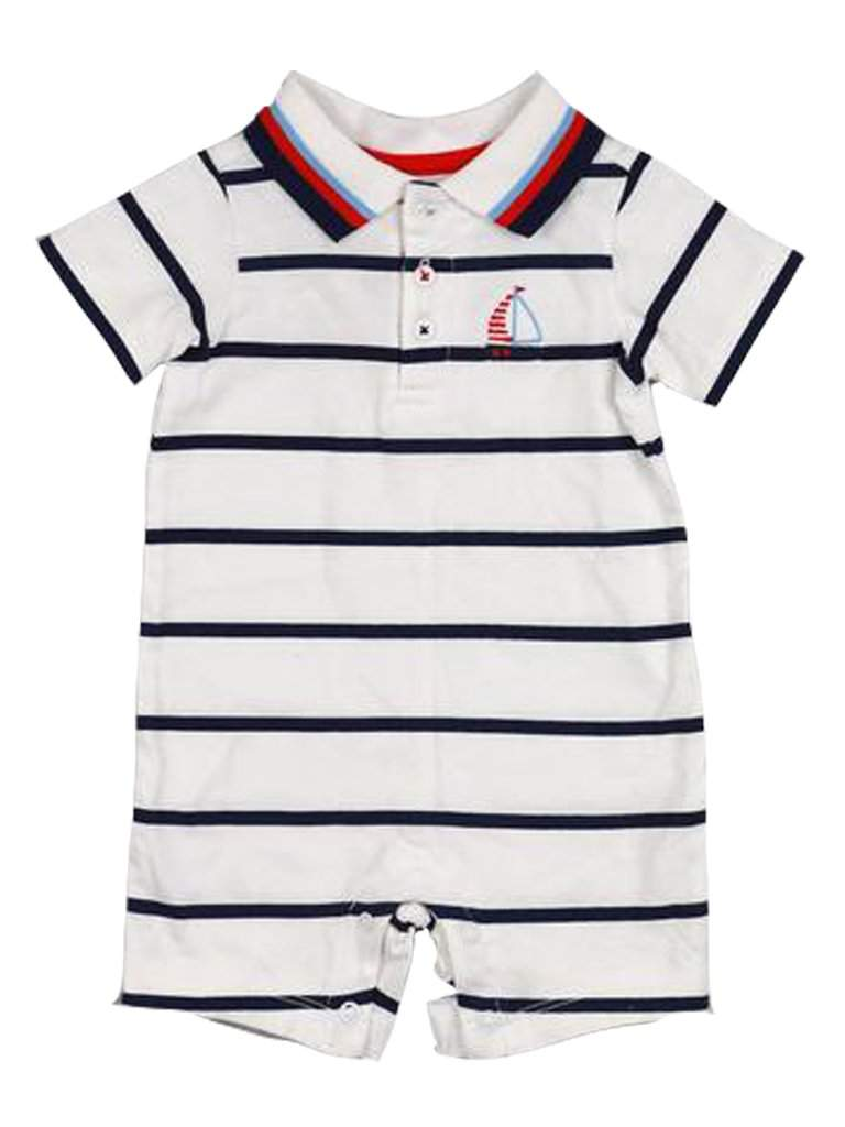 Baby Boys' Stripe Polo Romper by My100Brands - My100Brands