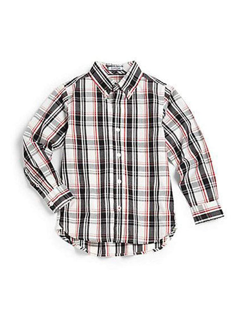 Hartstrings Boy's Plaid Button-Front Shirt by Hartstrings - My100Brands