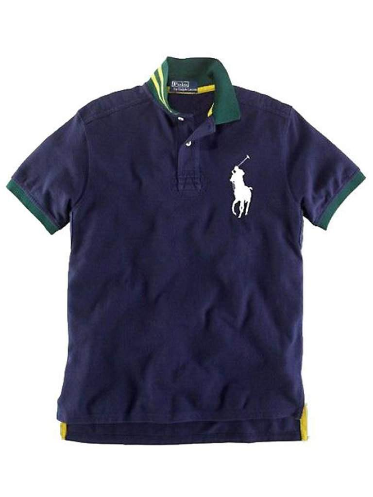 Ralph Lauren Navy Big Pony Short Sleeved Polo by Ralph Lauren - My100Brands