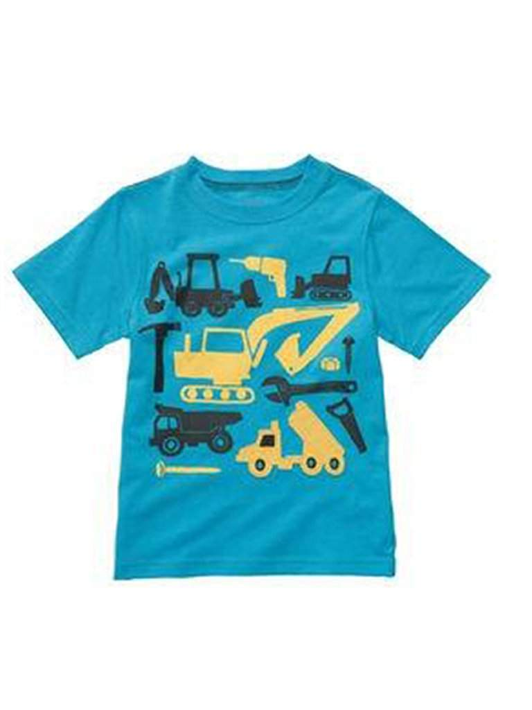 Carter's Boy's Construction Blue T-Shirt by Carters - My100Brands