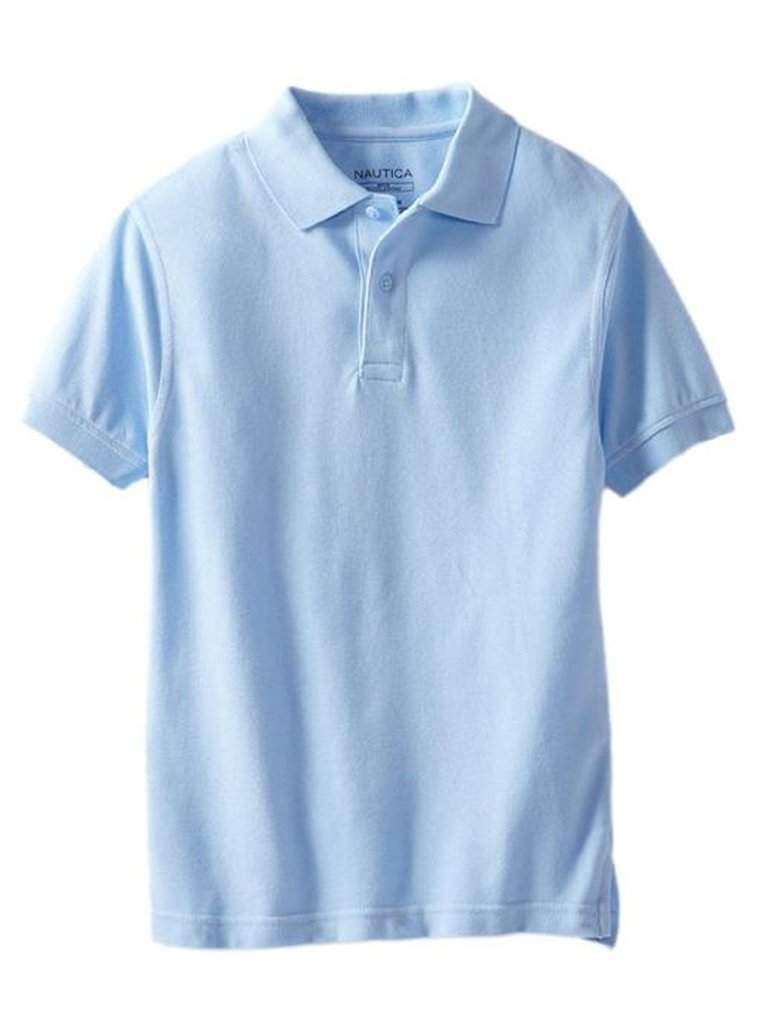 Nautica Big Boys' Uniform Short Sleeve Pique Polo Shirt by Nautica - My100Brands