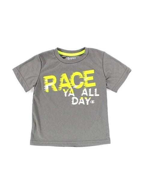 Champion  Boys Carbon Gray Race Ya All Day GraphicT-Shirt by Champion - My100Brands