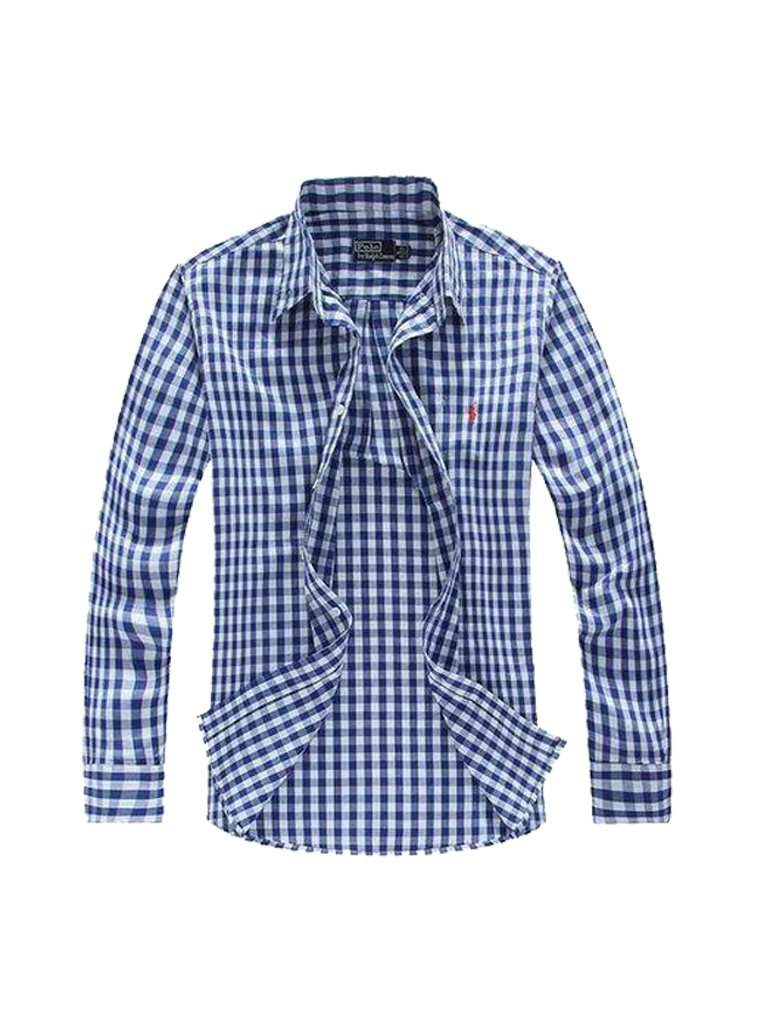 Ralph Lauren Polo Boys' Custom Fit Pony Plaid Shirt - Blue by Ralph Lauren - My100Brands