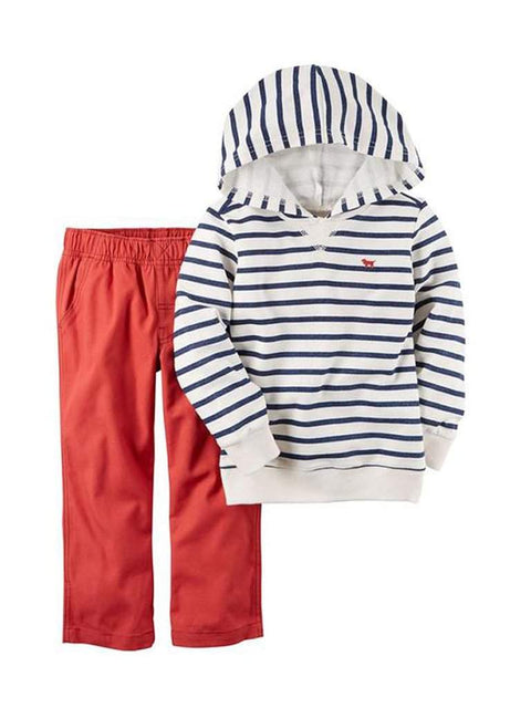 Carter's Striped French Terry Hoodie and Pants Set by Carters - My100Brands