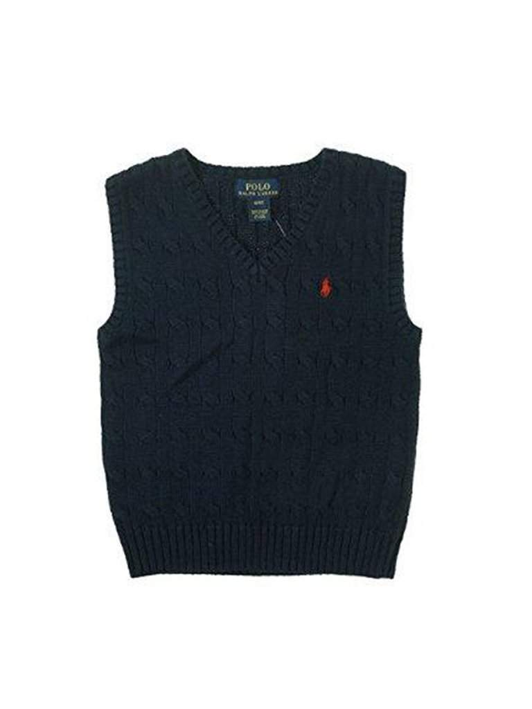 Ralph Lauren Big  Boy's  Cable-Knit Cotton Vest by Ralph Lauren - My100Brands
