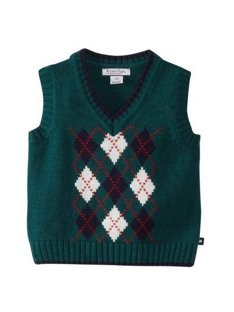 Hartstrings Baby Boy Infant Argyle V-Neck Vest Sweater by Hartstrings - My100Brands