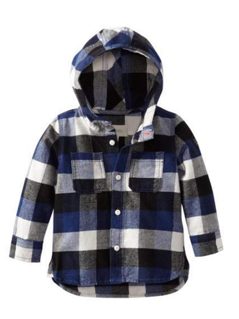 Diesel Baby Boys' Cyweb Yarn Dyed Plaid Hooded by Diesel - My100Brands