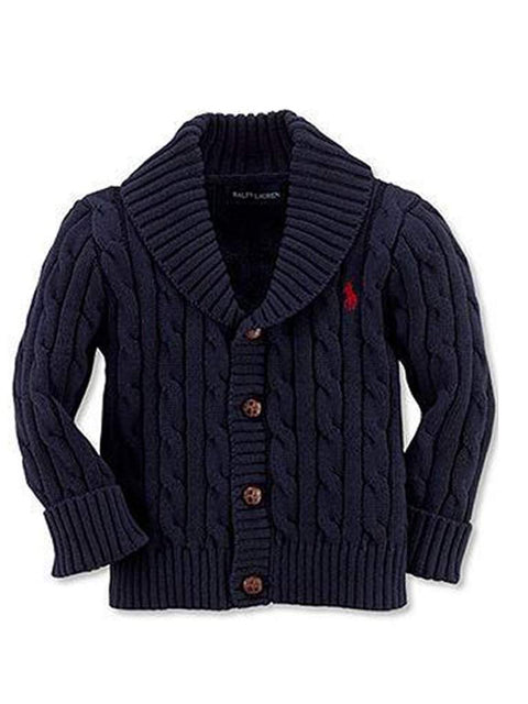 Ralph Lauren Baby Boys Shawl Collar Cable Knit Cardigan by Ralph Lauren - My100Brands