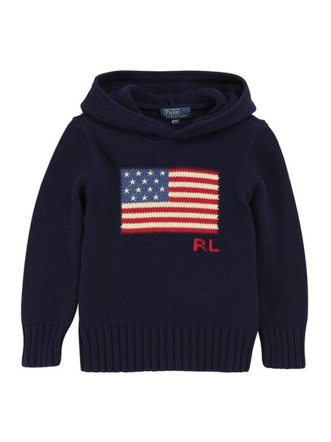 Ralph Lauren Boys' American Flag Hoodie Sweater by Ralph Lauren - My100Brands