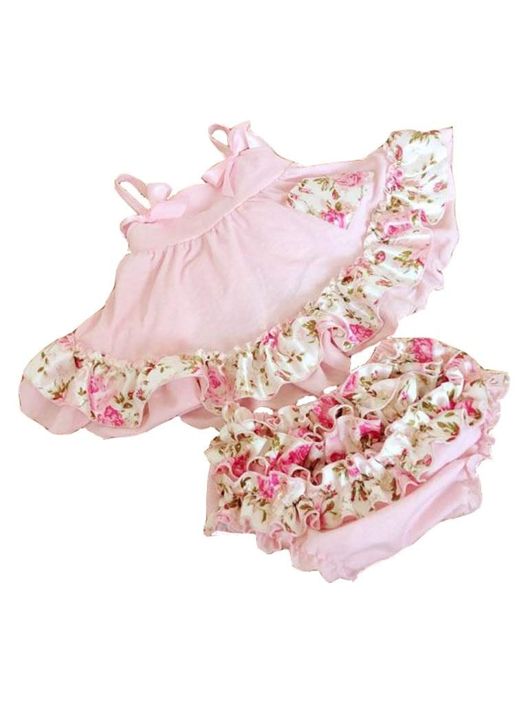 Baby Swing Top and Ruffled Diaper Cover by My100Brands - My100Brands