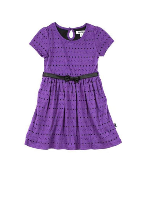 DKNY Toddler Girls' Laser Cut-Out Dress by DKNY - My100Brands