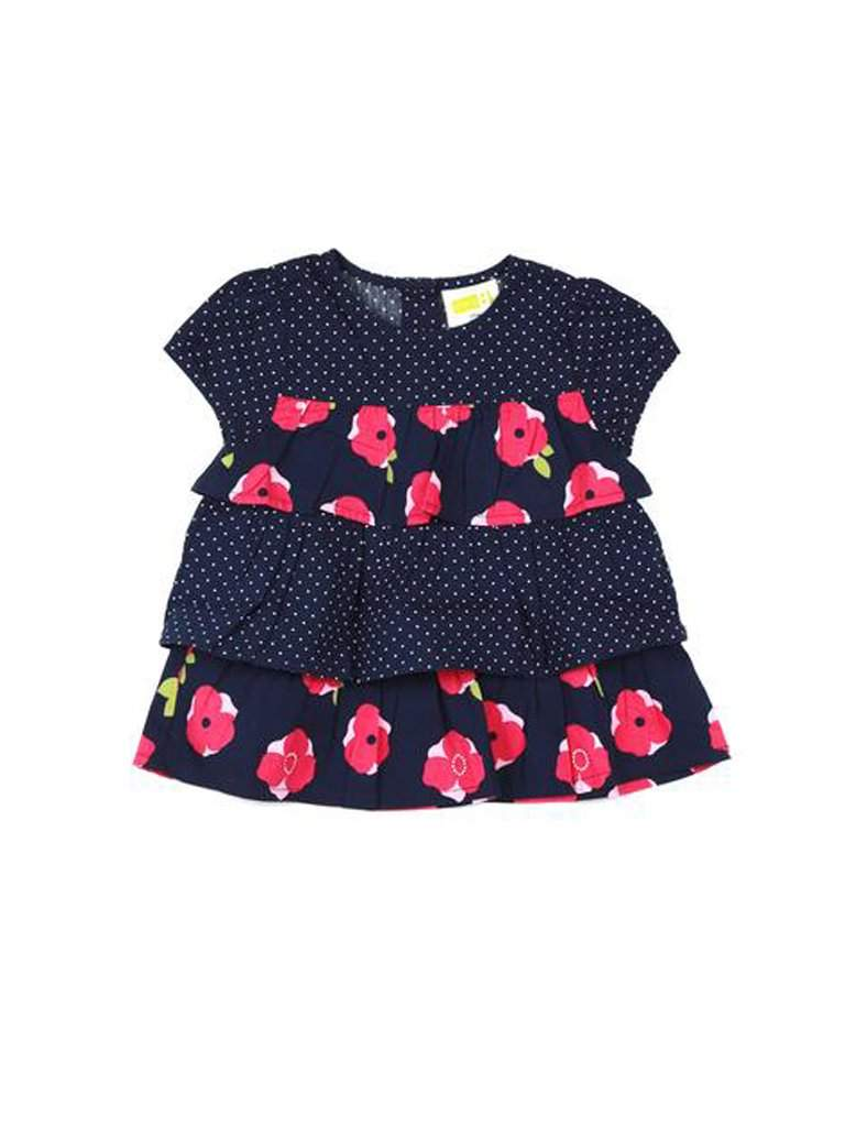Polka Dot Floral Dress by My100Brands - My100Brands