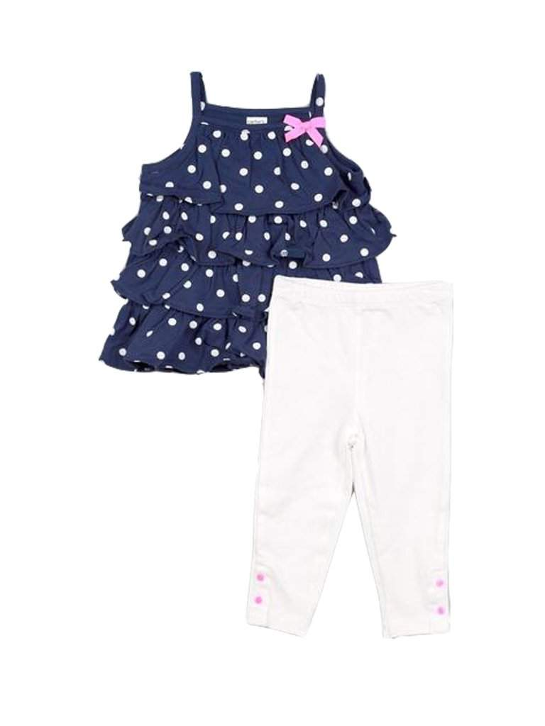 Carter's Polka Dot Ruffle Dress and Leggings by Carters - My100Brands