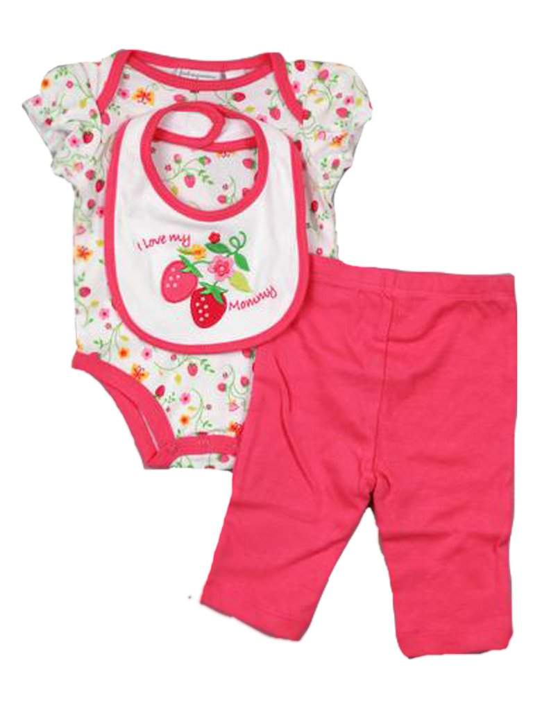 Baby Girls' Strawberry 3-Pc Set by My100Brands - My100Brands