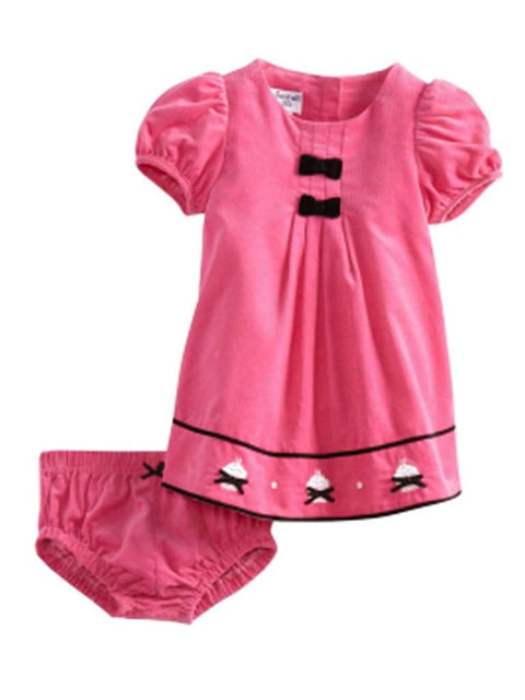 Hartstrings Baby Girl Corduroy Dress and Diaper Cover by Hartstrings - My100Brands