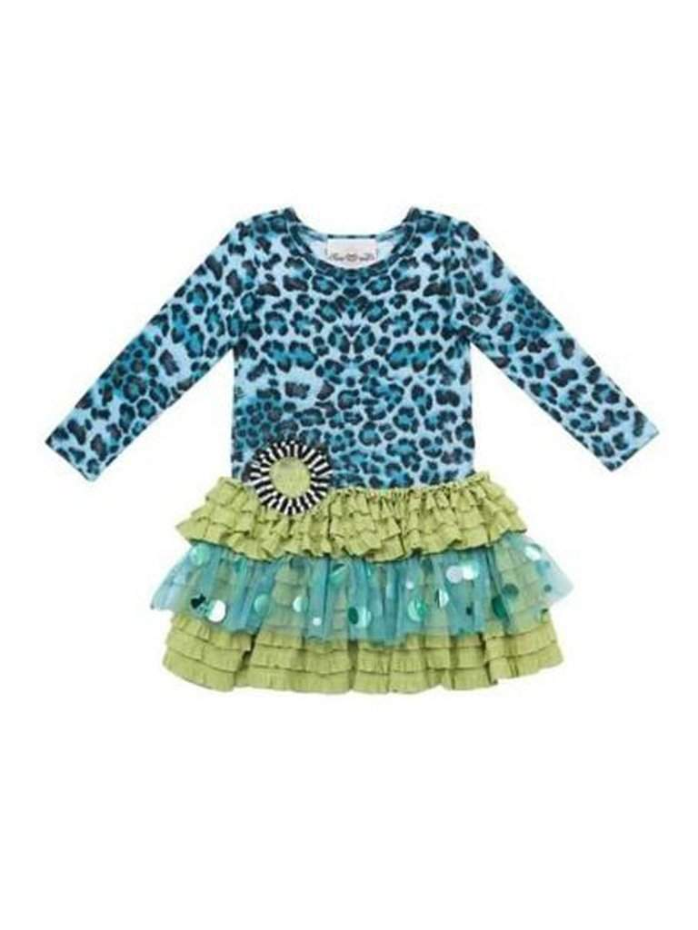 Rare Editions Girls Tutu Dress Teal Animal Print by Rare Editions - My100Brands