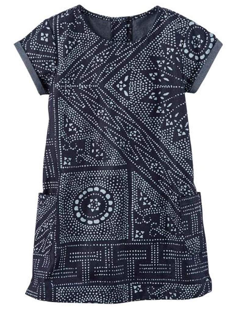 Carter's Printed Denim Shift Dress by Carters - My100Brands