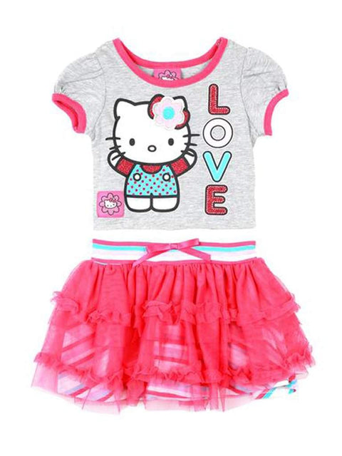 Hello Kitty Little Girls 3D Graphic Tutu Dress by Hello Kitty - My100Brands
