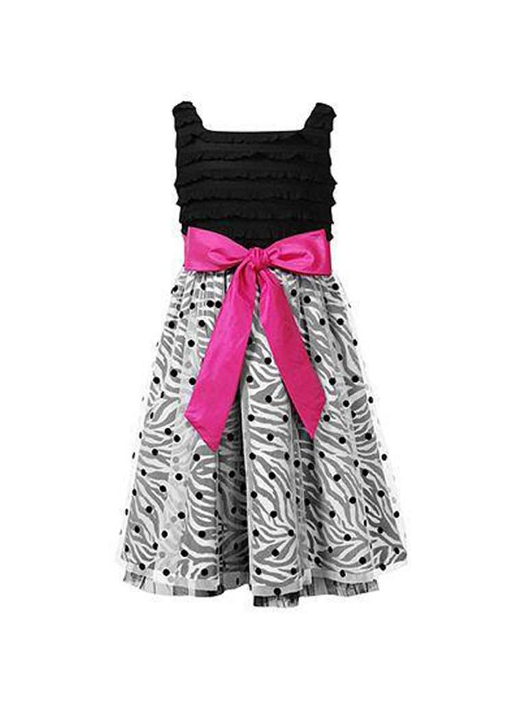 Sweet Heart Rose Girls' Zebra Dot Party Dress by Sweet Heart Rose - My100Brands