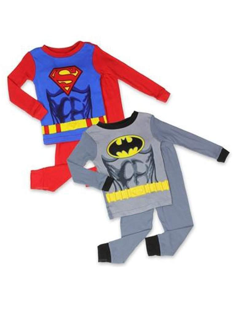 Batman and Superman Boys' 2 Pack Pajama Set by My100Brands - My100Brands