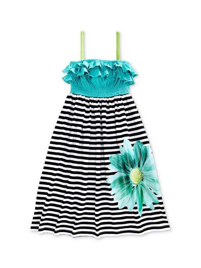 Flapdoodles Girls' Striped Maxi Dress by Flapdoodles - My100Brands