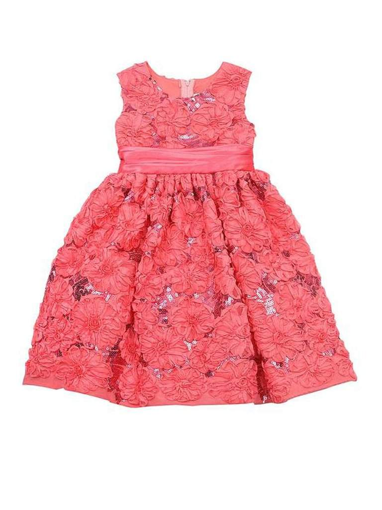 Rare Too Girls' Party Floral Sequin Soutache Dress by Rare Editions - My100Brands