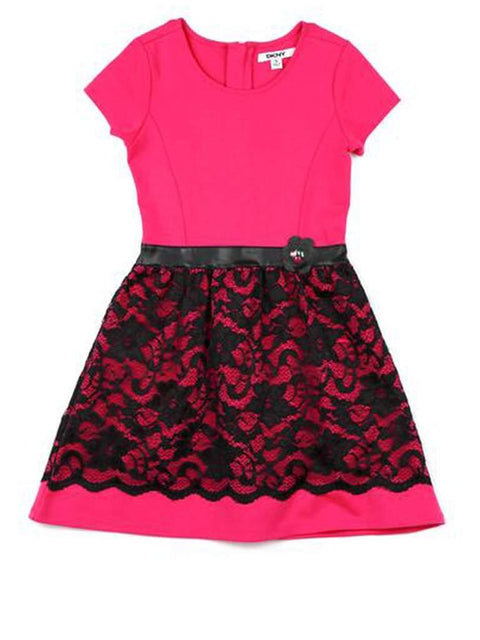 DKNY Girls Dress with Lace Elements by DKNY - My100Brands