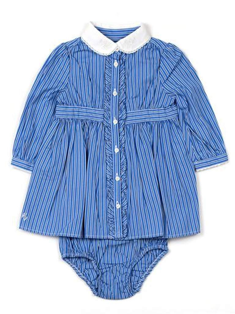 Ralph Lauren Baby Girls Stripe Shirt Dress by Ralph Lauren - My100Brands