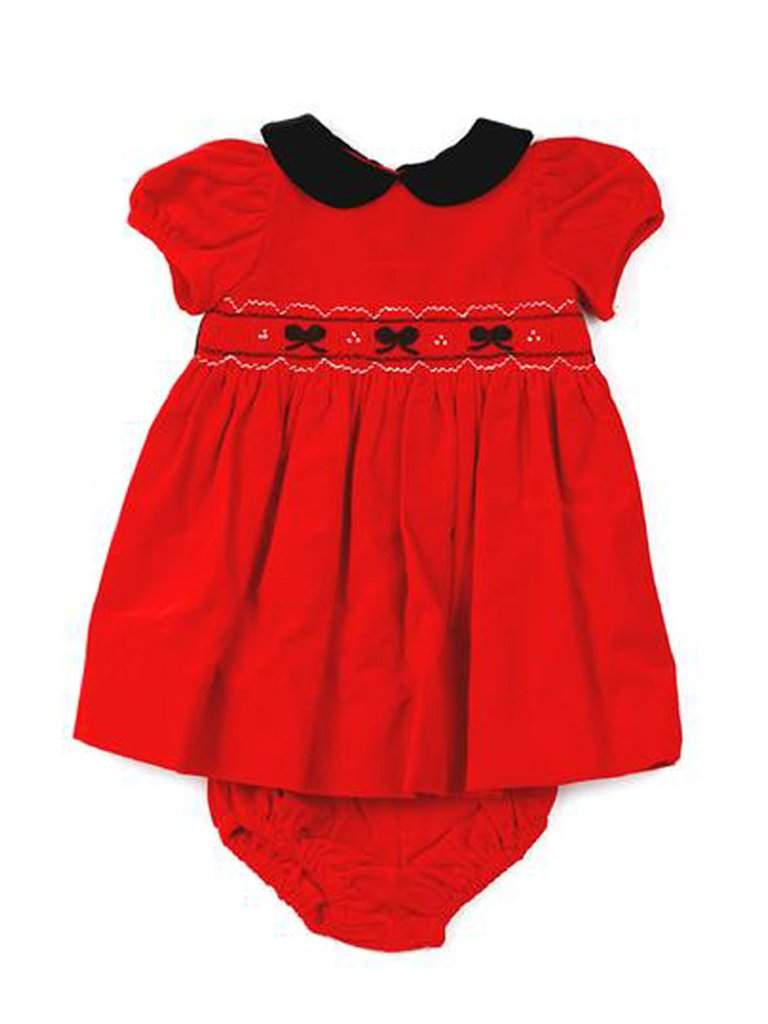 Hartstrings Baby Girl Newborn Velvet Dress by Hartstrings - My100Brands
