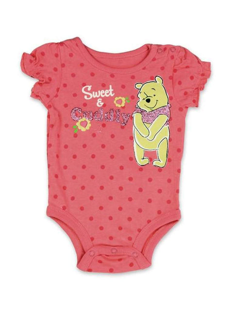 Disney Winnie The Pooh Girls' Bodysuit - Crimson by Disney - My100Brands