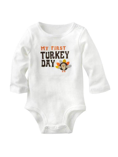 Carter's My First Turkey Day Thanksgiving Bodysuit by Carters - My100Brands