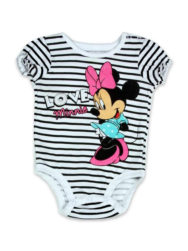 Disney Minnie Mouse Girls' Bodysuit - White by Disney - My100Brands