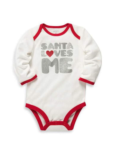 Carter's Santa Loves Me Glitter Bodysuit by Carters - My100Brands