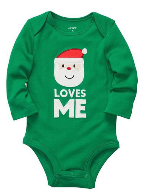 Carter's Unisex Baby Santa Loves Me Bodysuit by Carters - My100Brands