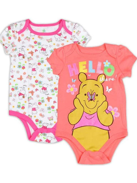 Disney Winnie The Pooh Girls' 2 Pack Bodysuit Set by Disney - My100Brands
