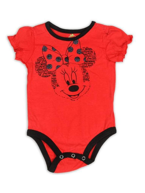 Disney Minnie Mouse Girls Bodysuit Red by Disney - My100Brands
