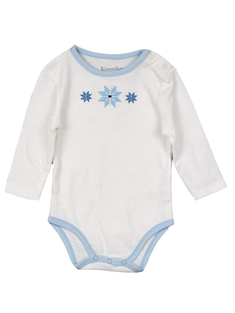 Kitestrings Long Sleeve Snowflake Bodysuit by Kitestrings - My100Brands