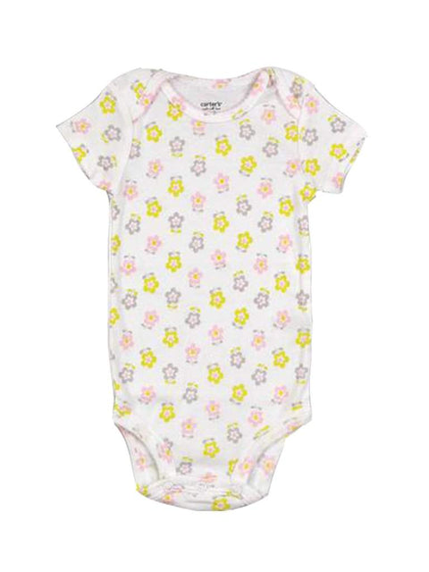 Carter's Short Sleeve Floral Cotton Bodysuit by Carters - My100Brands
