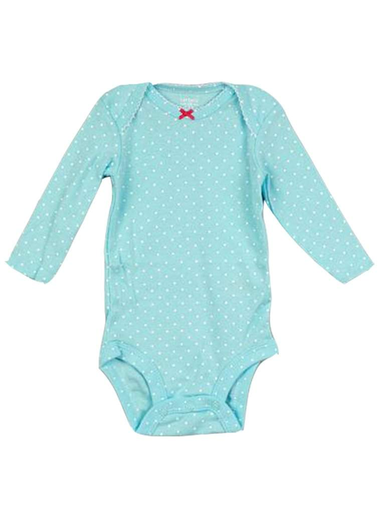 Carter's Long Sleeve Polka Dot Cotton Bodysuits by Carters - My100Brands