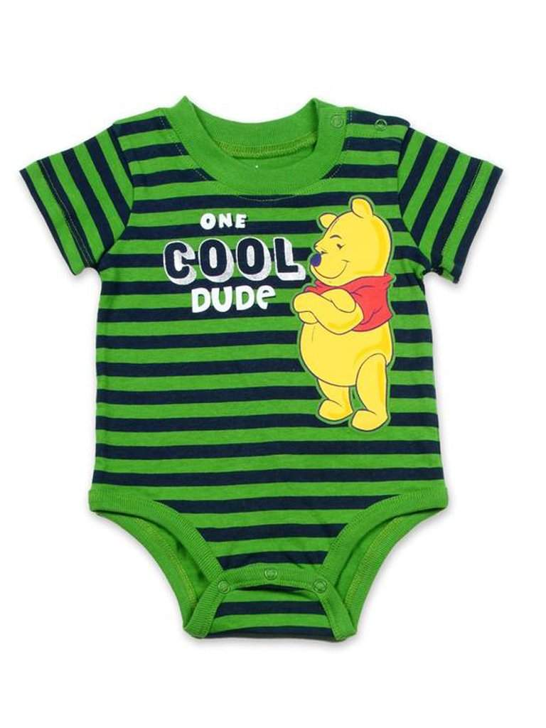 Disney Winnie The Pooh Boys' Bodysuit - Green by Disney - My100Brands