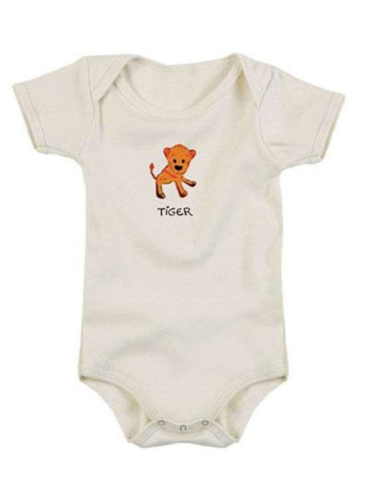 Kee-Ka Organics Short Sleeve Bodysuit - Tiger by My100Brands - My100Brands