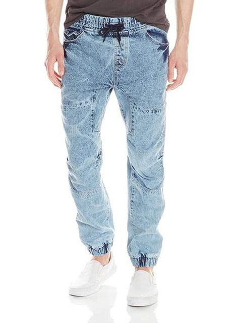 WT02 Men's Jogger Pant In Acid-Washed Denim by My100Brands - My100Brands