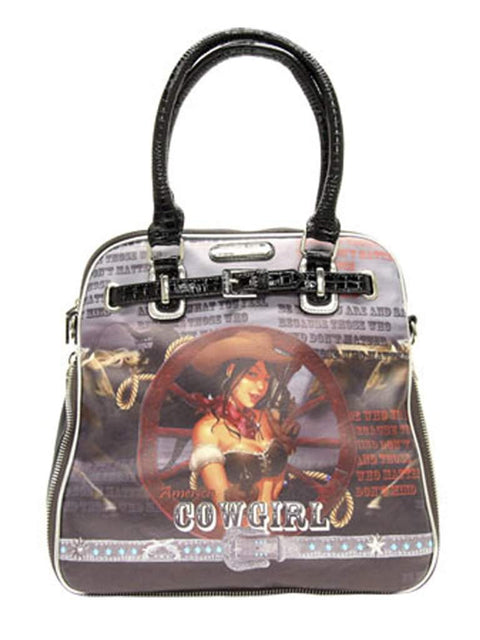 Nicole Lee Cowgirl Wheel Western Print Shoulder Bag by Nicole Lee - My100Brands