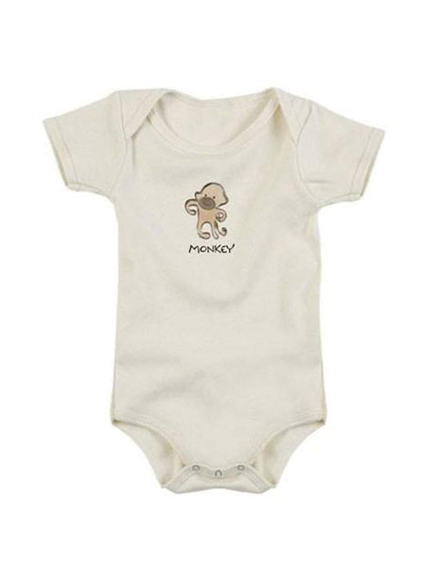 Kee-Ka Organics Short Sleeve Bodysuit - Monkey by Kee-Ka Organics - My100Brands