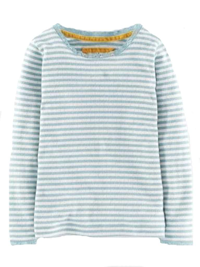 Girl's Mini Boden Super Soft Pointelle Tee by Mini Boden - My100Brands