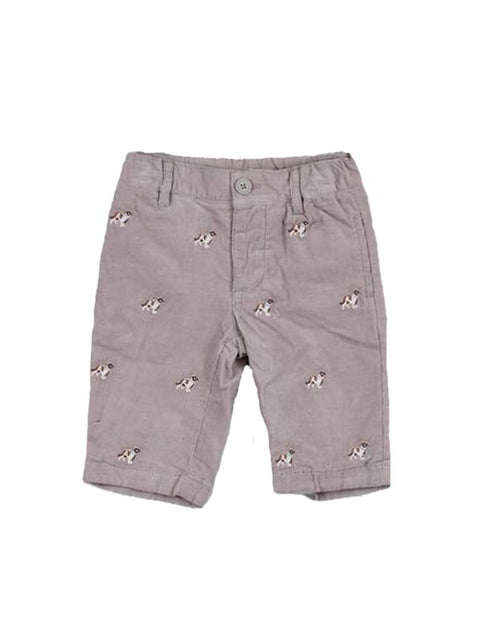 Kitestrings Baby Boy Embroidered Dog Pants by Kitestrings - My100Brands