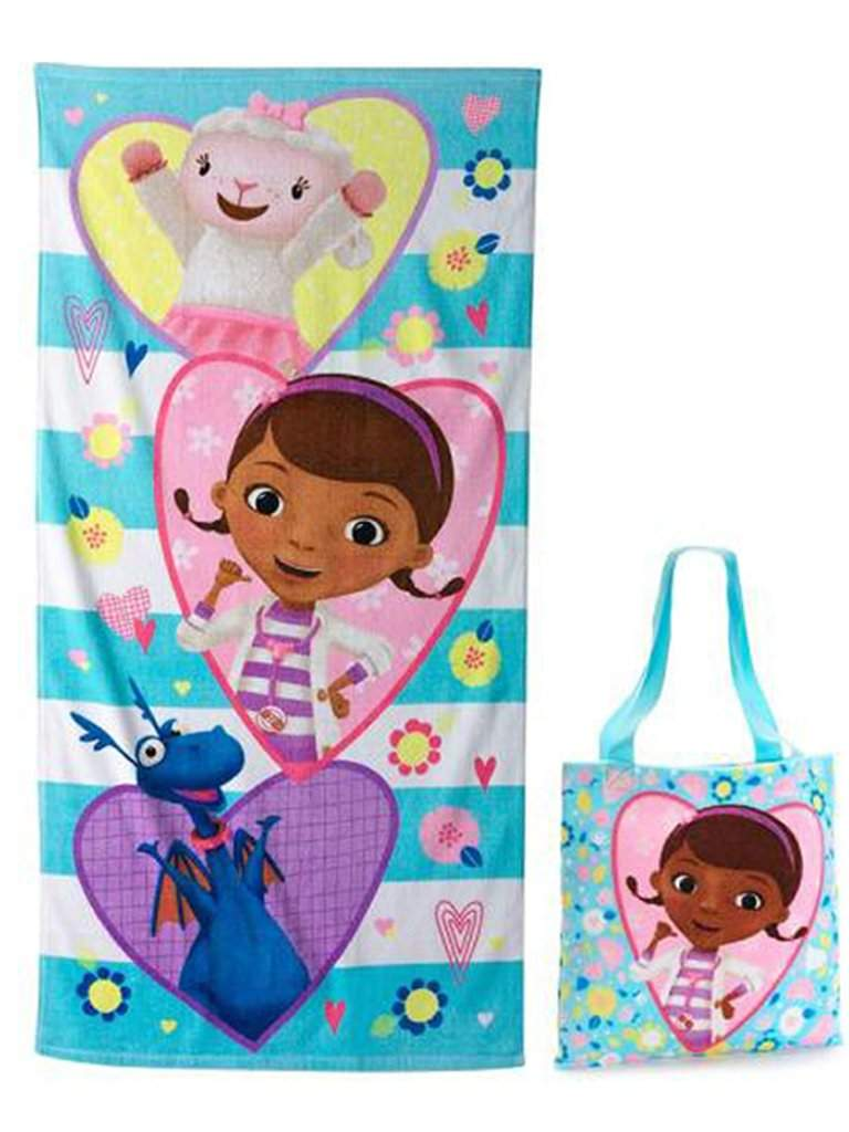 Disney Doc Mcstuffins Beach Towel and Tote 2-Pc Set by Disney - My100Brands