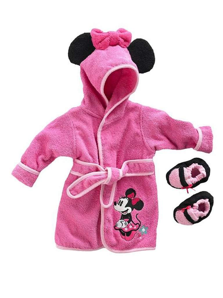 Disney Mickey Mouse and Minnie Mouse Robe and Booties Baby Set by Disney - My100Brands