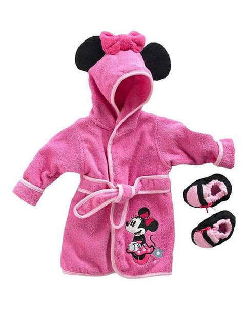 Disney Mickey Mouse & Friends Minnie Mouse Robe & Booties Set - Baby by Disney - My100Brands