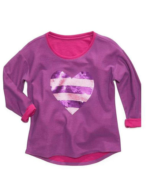 Jessica Simipson Kids Sweater Girls Josette Sequin Heart Sweater by Jessica Simpson - My100Brands
